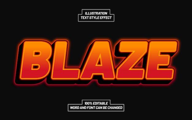 3d blaze bold text style effect