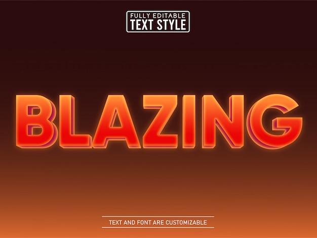 3d blazing in fire modern text effect
