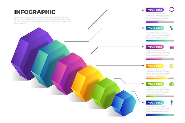 3d block layers infographic