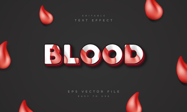 3d blood editable text effect