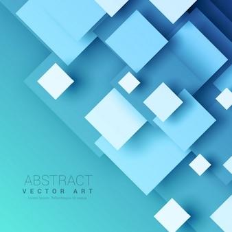 幾何学的な正方形の形状を有する青色の背景