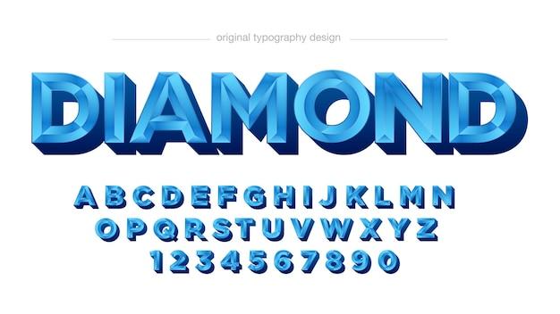 3d blue bevel typography
