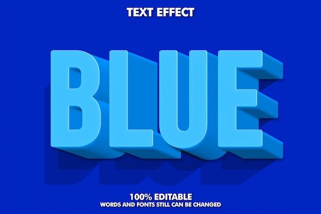 3d 파란색 텍스트 효과