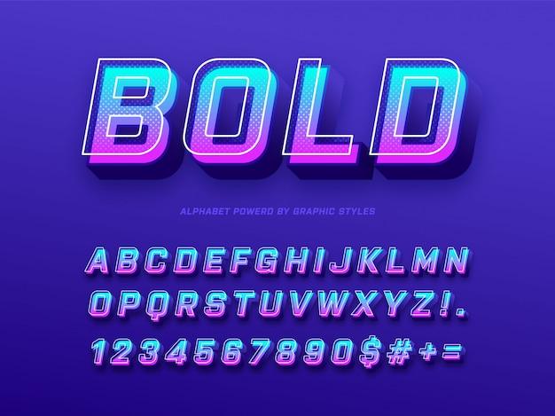 3d bold alphabet