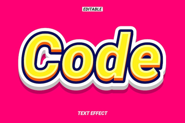3d bold and bright text effect