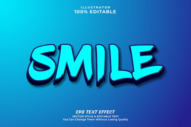 3d bold editable text effect style, premium