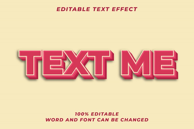 3d bold red text style effect