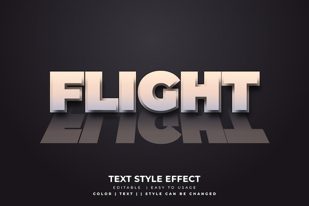3d bold text style with reflection effect