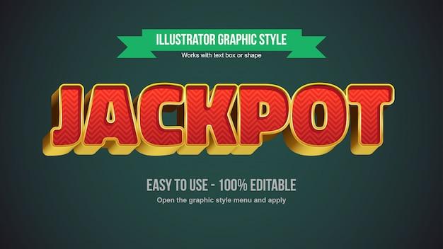 Золотая 3d bold типография с элегантным красным зигзагом