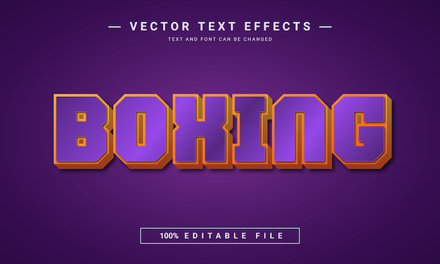 3d boxing text effect