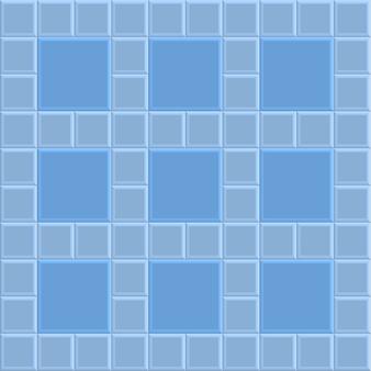 3d brick stone pavement texture background, blue vector illustration pattern
