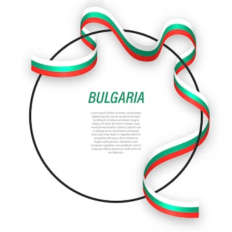 3d bulgaria with national flag.
