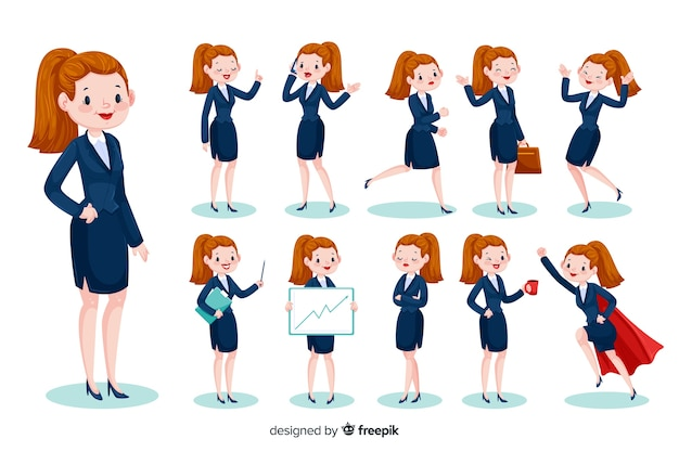 3d businesswoman character