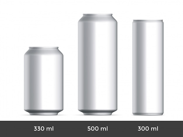 3d can. aluminium beer or soda can blank template