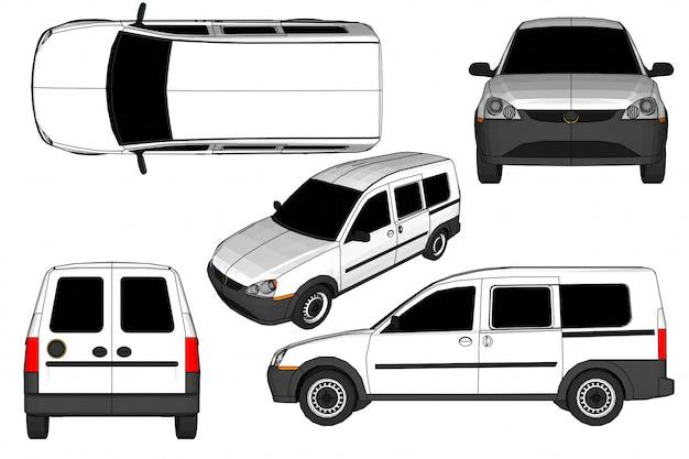 3d car vector