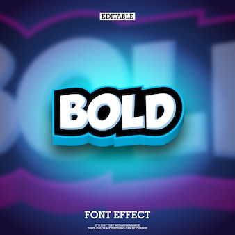 3d cartoon style text effect for animation and game logo