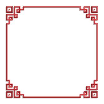 3d chinese border frame