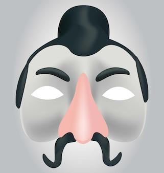 ベクトルで作られた3d中国のマスク現実的な中国のマスク
