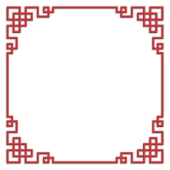 3d chinese pattern frame vector border art china style