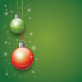3d christmas balls background
