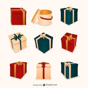 3d рождественские подарки коробки