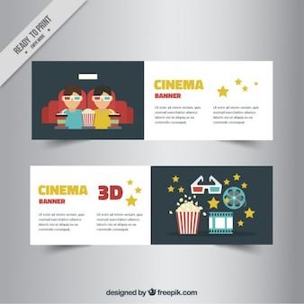 3d cinema banners