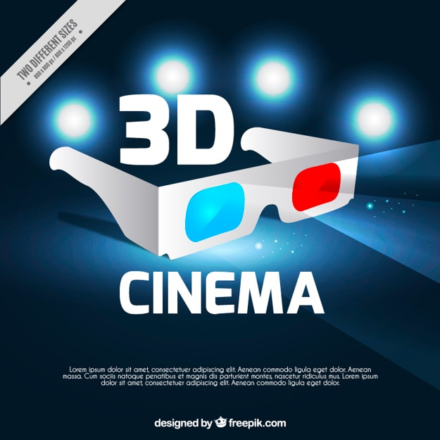 3d фон кино очки
