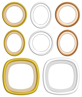 3d circle frame