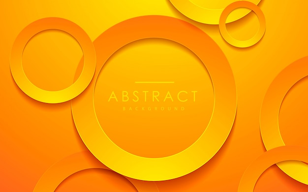 3d circle orange papercut layer background