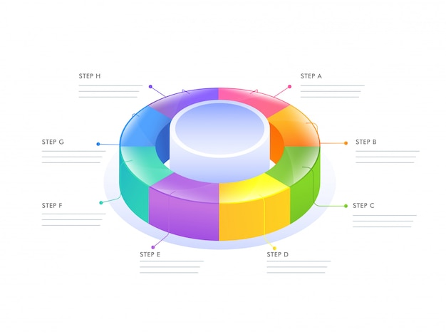3d circular infographic diagram for business template