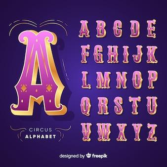 3d circus alphabet