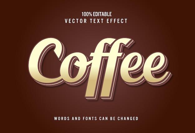 3d 커피 편집 가능한 텍스트 효과