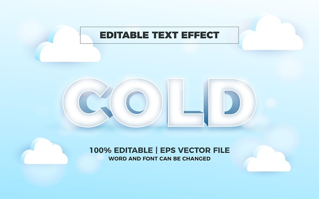 3d cold editable text effect