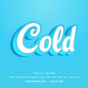 3d cold font effect