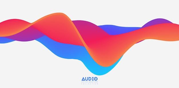 3d colorful solid waveform