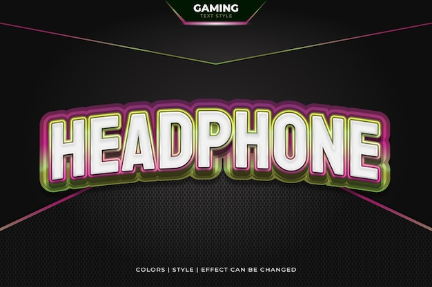 3d colorful text style with embossed and curved effects for gaming team identity.