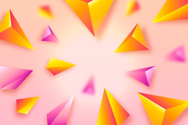 3d colourful triangle background