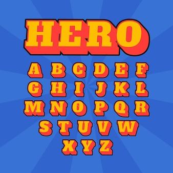 3d comic alphabet