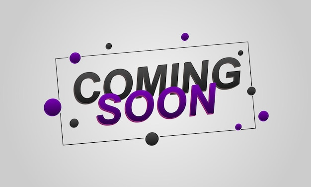 3d coming soon lettering background vector illustration