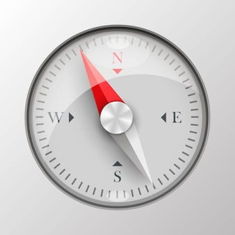 3d compass on white background. vector illustration