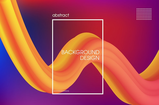 3d composition with bright fluid colorful liquid shape background