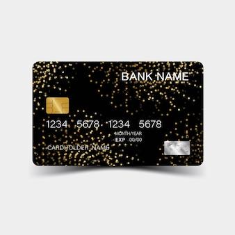 3d credit card template luxurious editable vector design illustration eps10