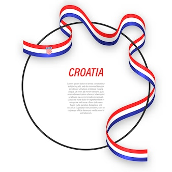 3d хорватия с национальным флагом.
