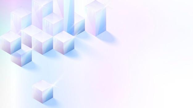 3d 큐브 추상 디자인