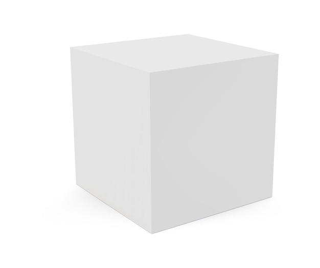 3d cube isolated on white background Premium Vector