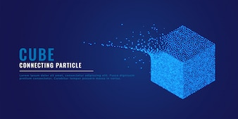 3d cube particle system background