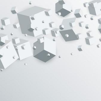 3d плавающие кубики коробки абстрактный фон