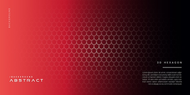 3d dark red abstract hexagon background
