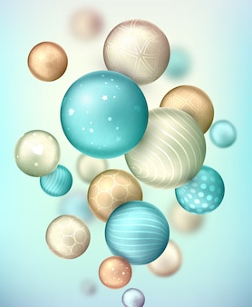 3d decorative balls. abstract  background