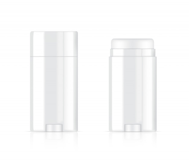 3d deodorant bottle   realistic cosmetic for skincare product on white background illustration. health care and medical concept design.